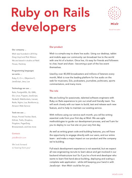 Welcome to Mixlr Tech Blog | Tech blog | Mixlr