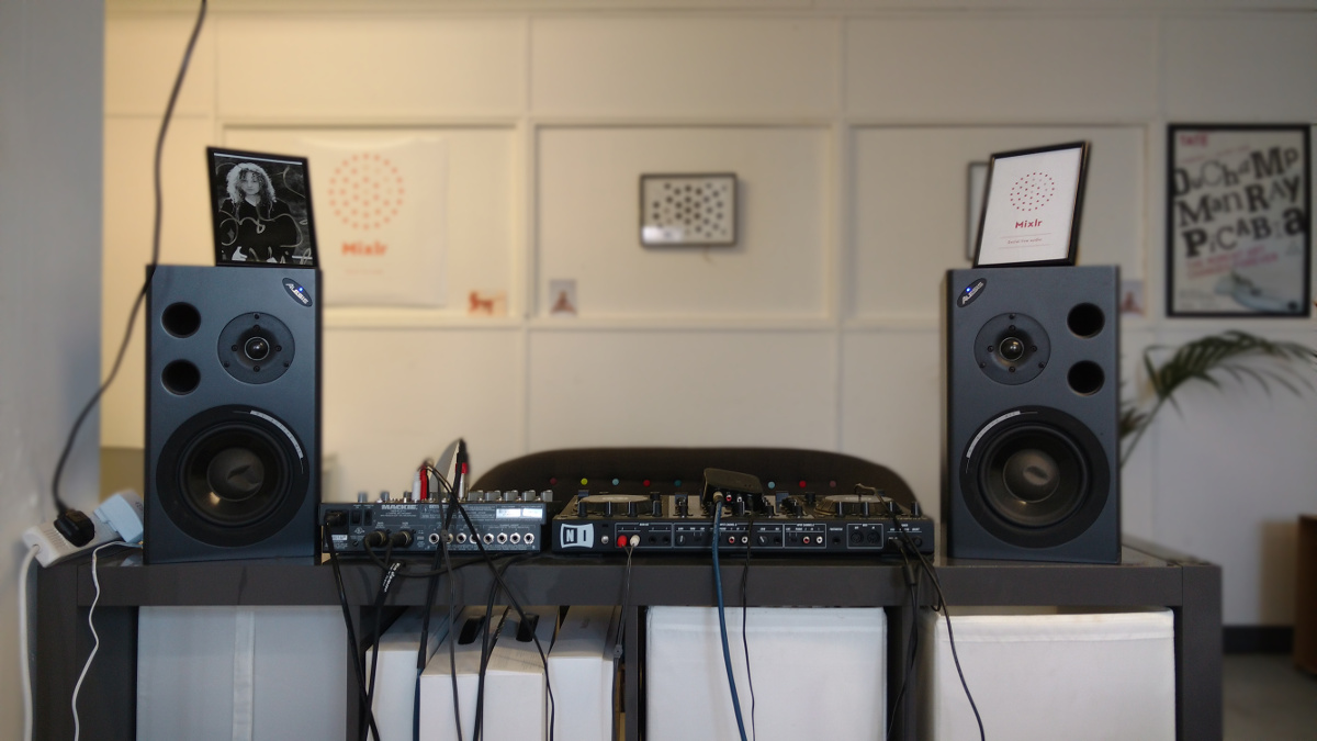 The Mixlr office sound system